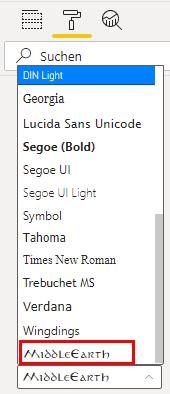Benutzerdefinierte Schriftart ist nun in Power BI verfügbar