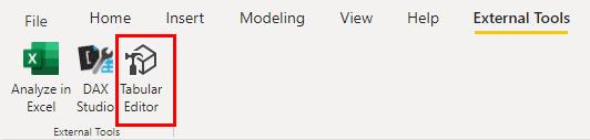 Aktuelles Datenmodell im Tabular Editor öffnen