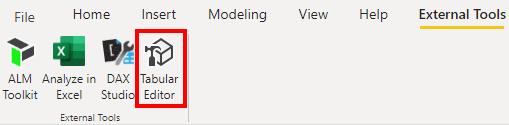 Start Tabular Editor aus Power BI