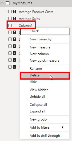 Delete the originally empty column