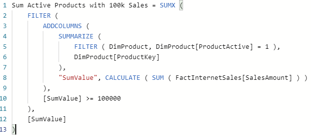 Formatiertes DAX Measure