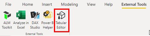Launch Tabular Editor from Power BI