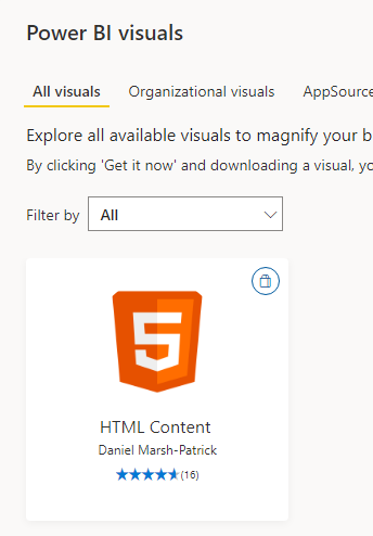 HTML Visual in Power BI