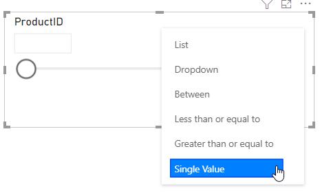 Single Value Slicer in Power BI